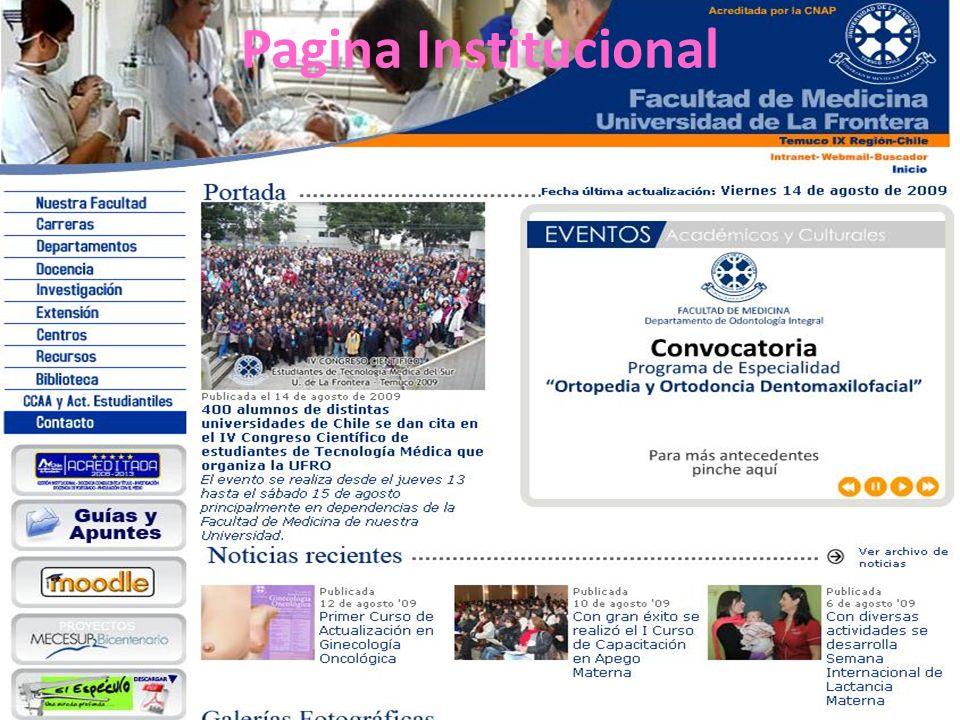 Pagina Institucional