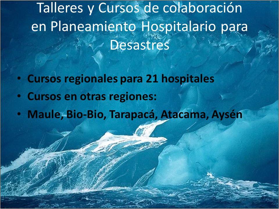 Talleres y Cursos de colaboración en Planeamiento Hospitalario para Desastres