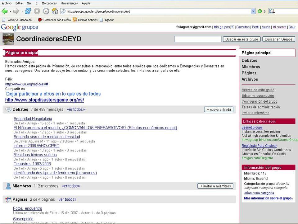 Presencia en la WEB