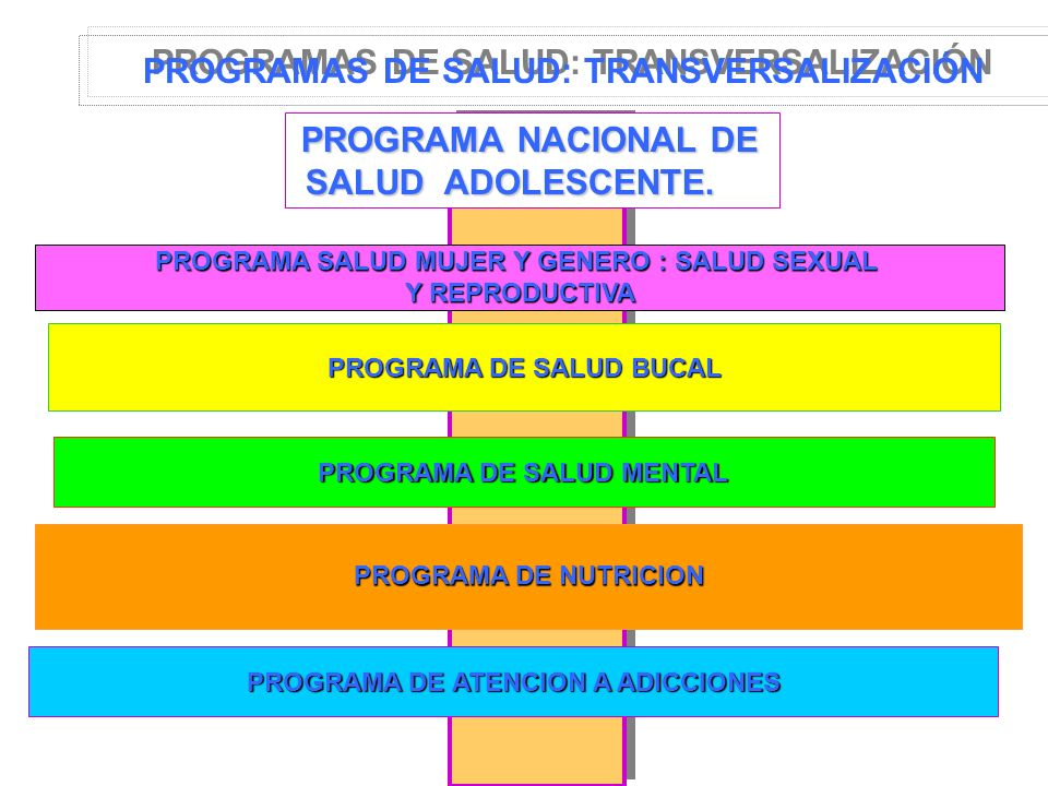 PROGRAMAS DE SALUD: TRANSVERSALIZACIÓN