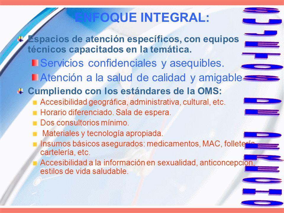 SUJETOS DE DERECHO ENFOQUE INTEGRAL: