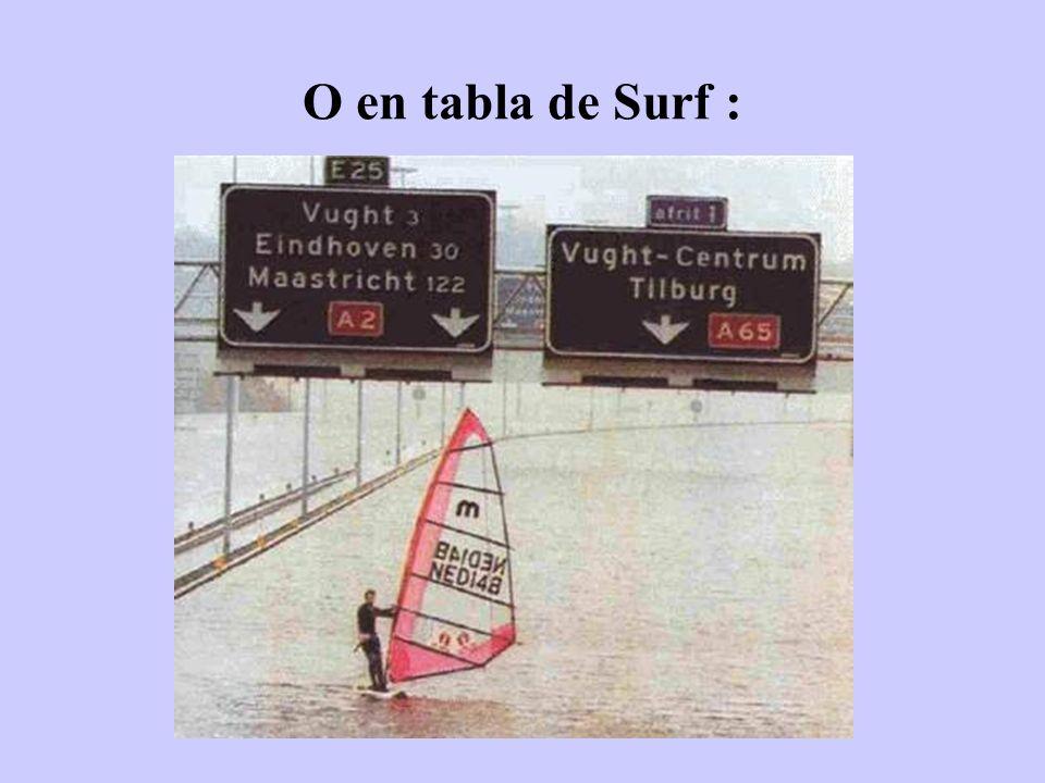 O en tabla de Surf :
