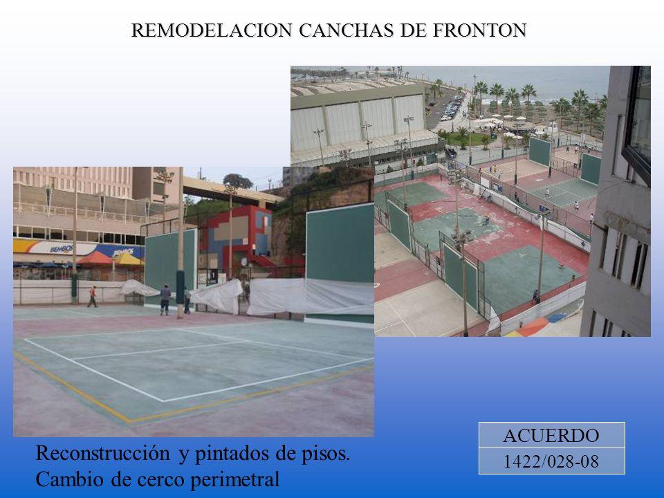 REMODELACION CANCHAS DE FRONTON