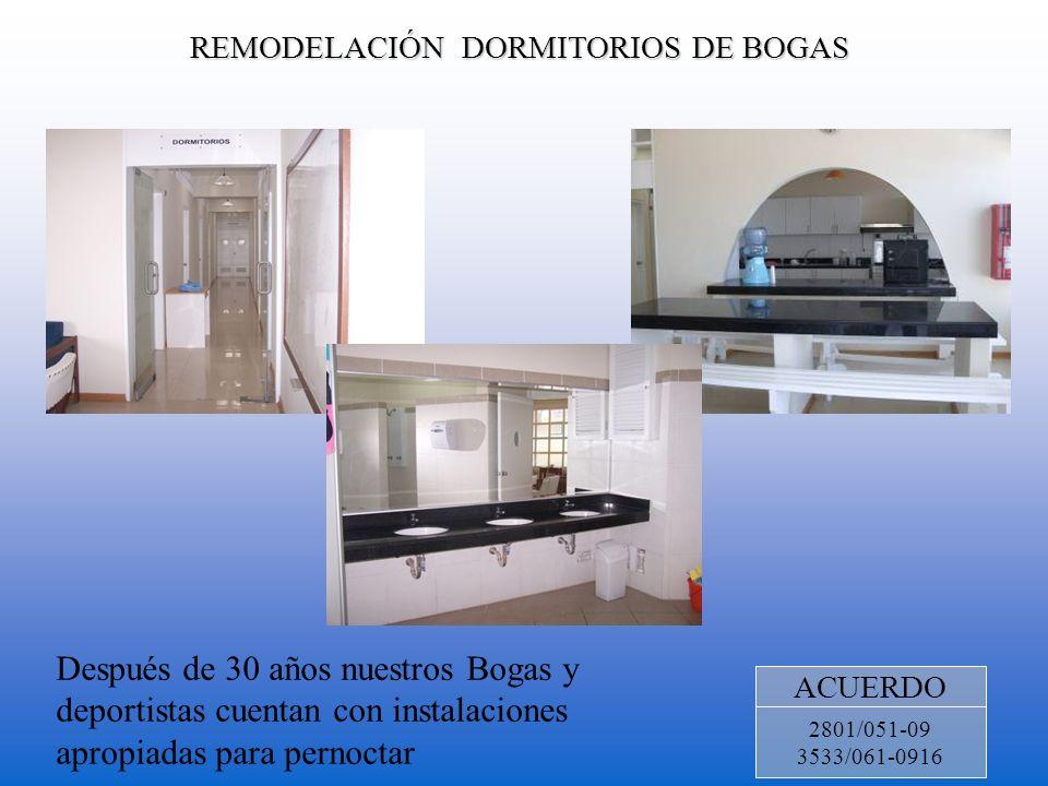 REMODELACIÓN DORMITORIOS DE BOGAS