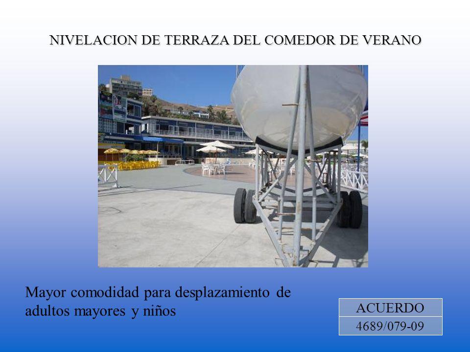 NIVELACION DE TERRAZA DEL COMEDOR DE VERANO