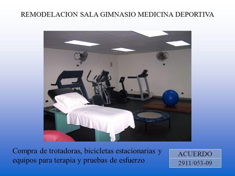 REMODELACION SALA GIMNASIO MEDICINA DEPORTIVA