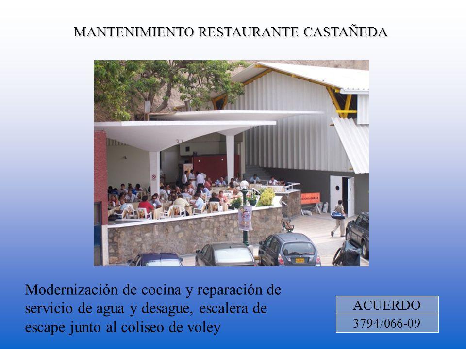 MANTENIMIENTO RESTAURANTE CASTAÑEDA