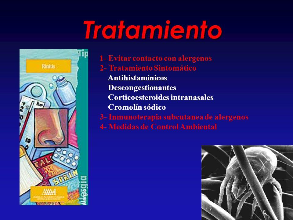 Tratamiento 2- Tratamiento Sintomático Antihistamínicos