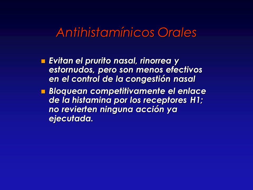 Antihistamínicos Orales