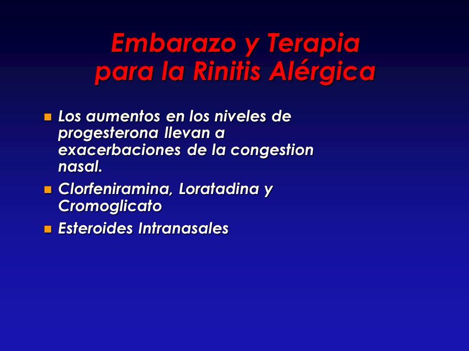 Embarazo y Terapia para la Rinitis Alérgica