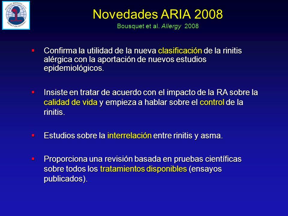Novedades ARIA 2008 Bousquet et al. Allergy 2008.