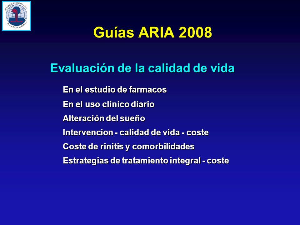 Guías ARIA 2008 Evaluación de la calidad de vida