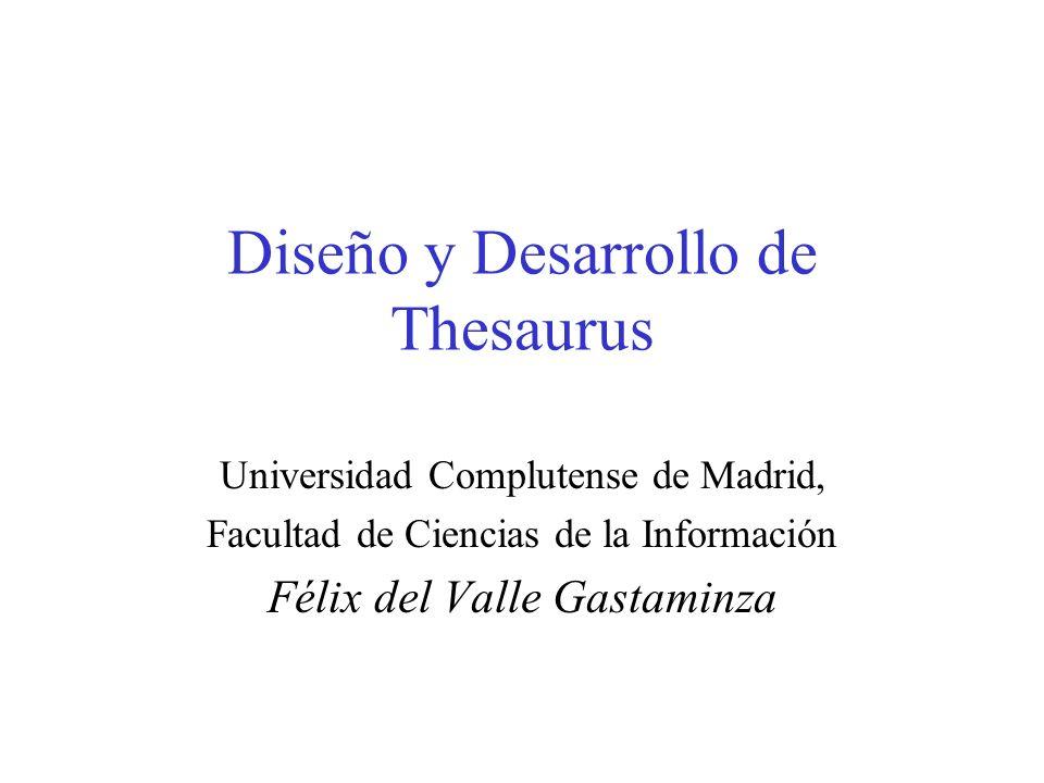 Diseño y Desarrollo de Thesaurus