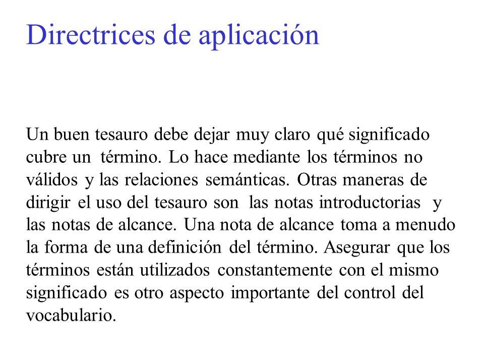 Directrices de aplicación