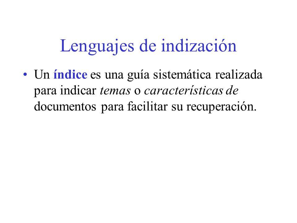 Lenguajes de indización