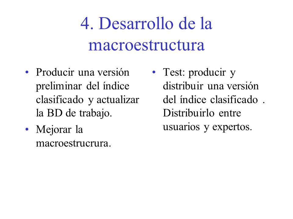 4. Desarrollo de la macroestructura