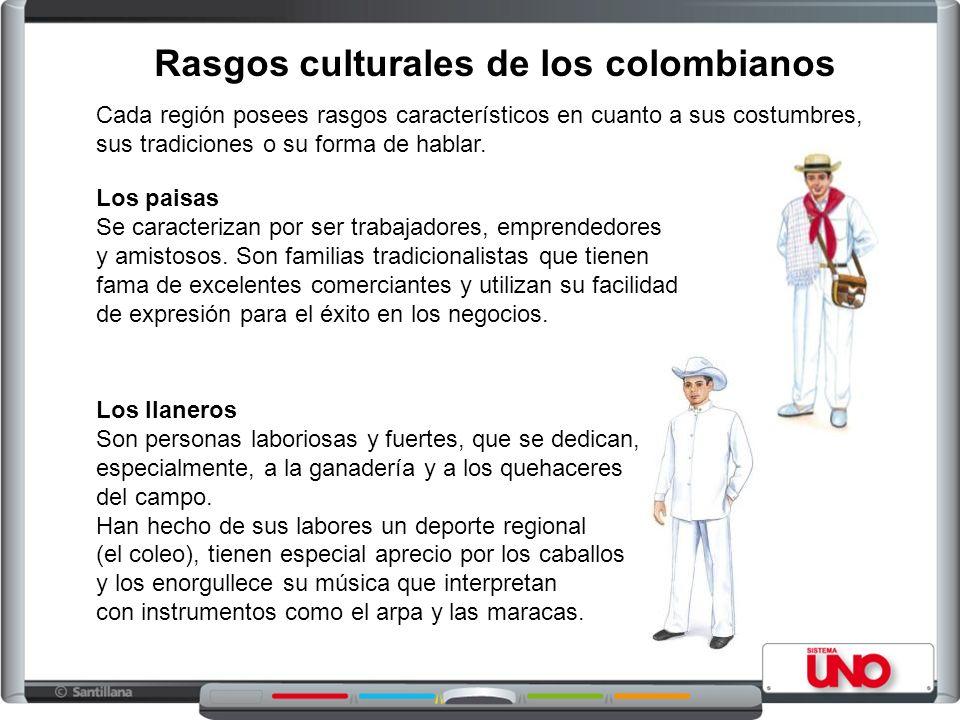 Rasgos culturales de los colombianos