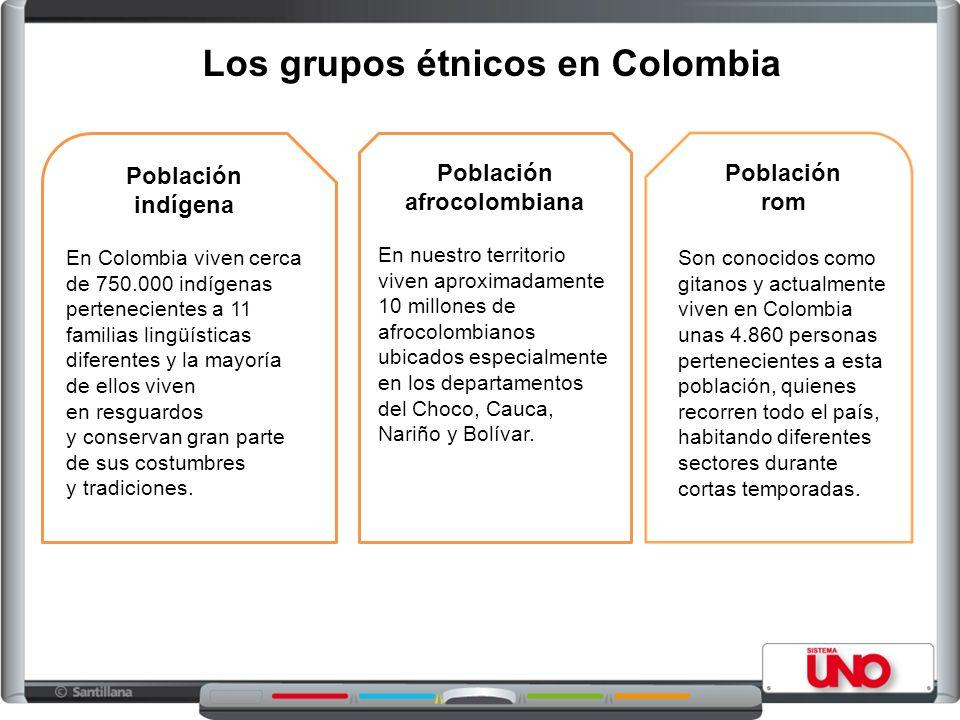 Los grupos étnicos en Colombia