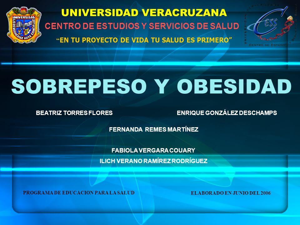 SOBREPESO Y OBESIDAD UNIVERSIDAD VERACRUZANA