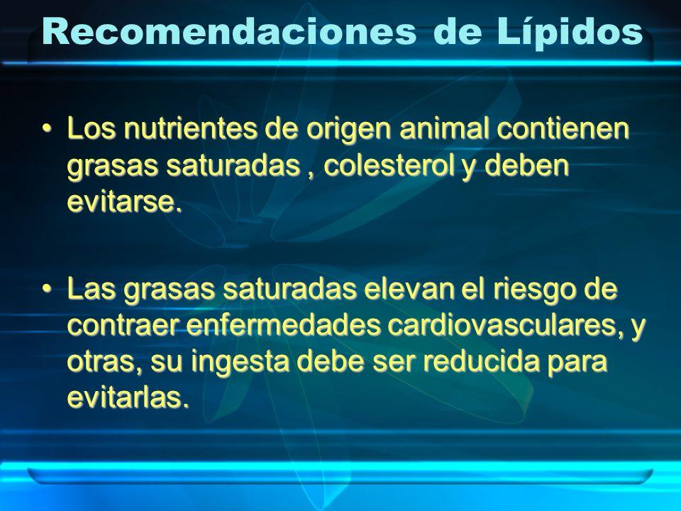 Recomendaciones de Lípidos