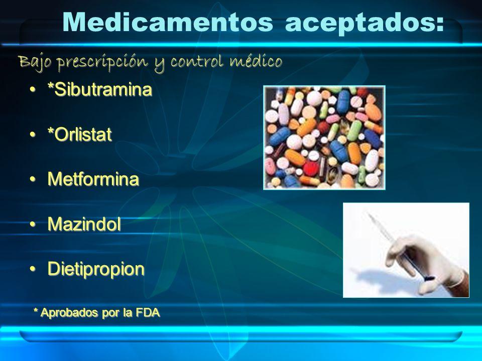 Medicamentos aceptados: