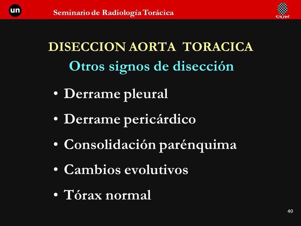 DISECCION AORTA TORACICA