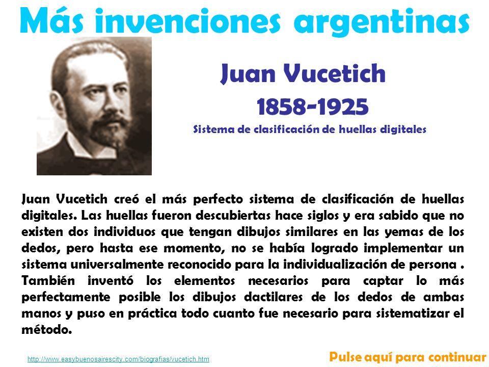 Más invenciones argentinas