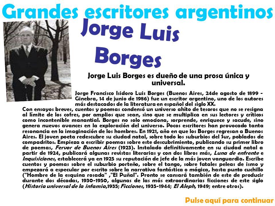 Grandes escritores argentinos