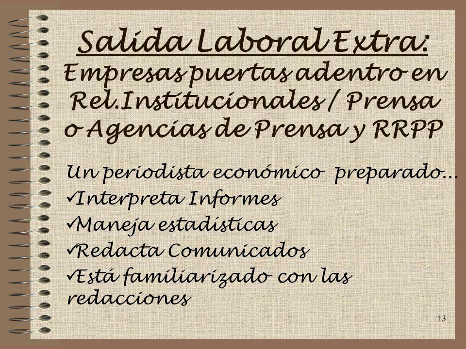Salida Laboral Extra: Empresas puertas adentro en Rel
