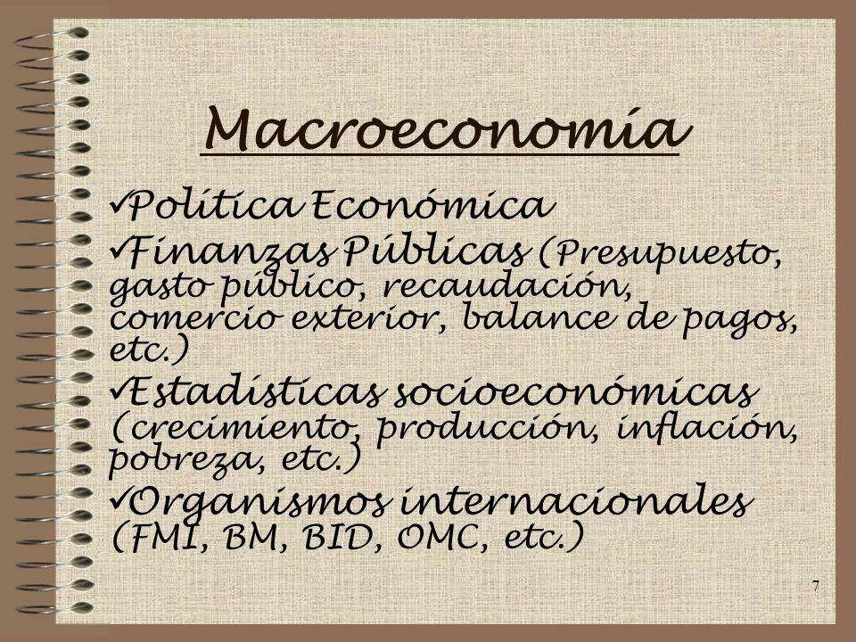 Macroeconomía Política Económica