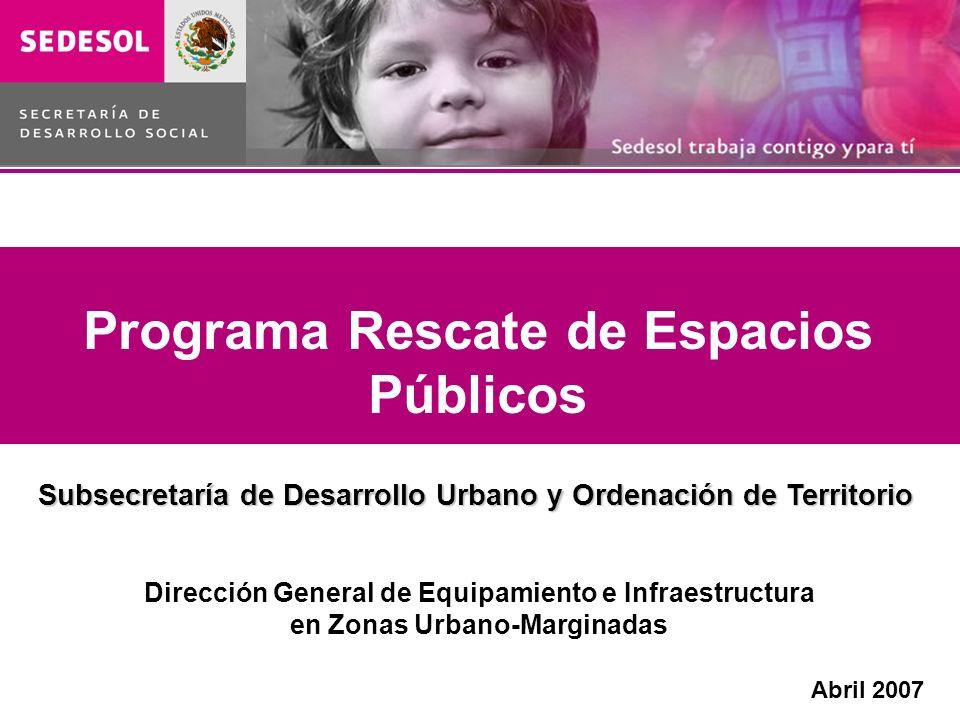 Programa Rescate de Espacios Públicos