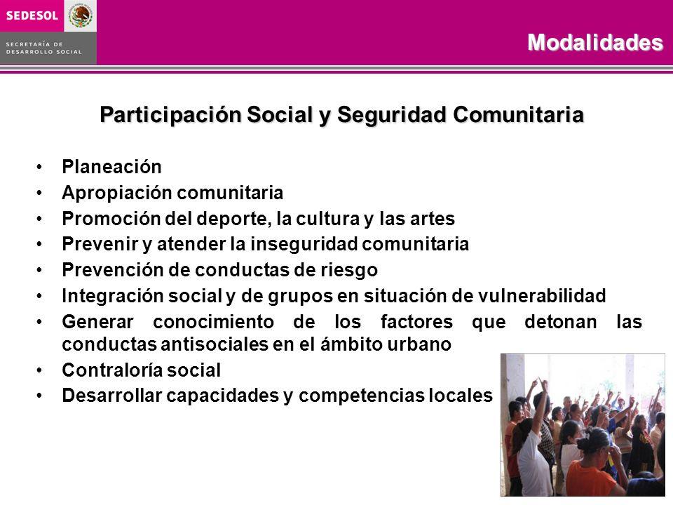 Participación Social y Seguridad Comunitaria
