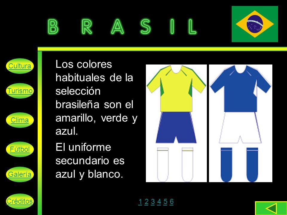 El uniforme secundario es azul y blanco.