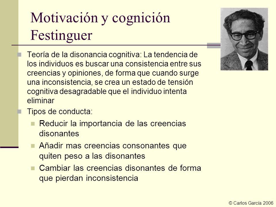 Motivación y cognición Festinguer