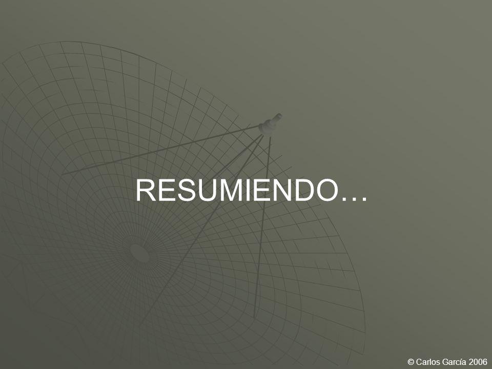 RESUMIENDO… © Carlos García 2006