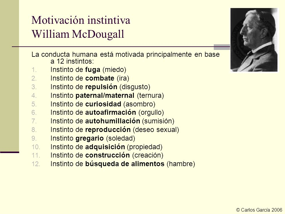 Motivación instintiva William McDougall