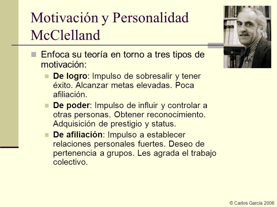 Motivación y Personalidad McClelland