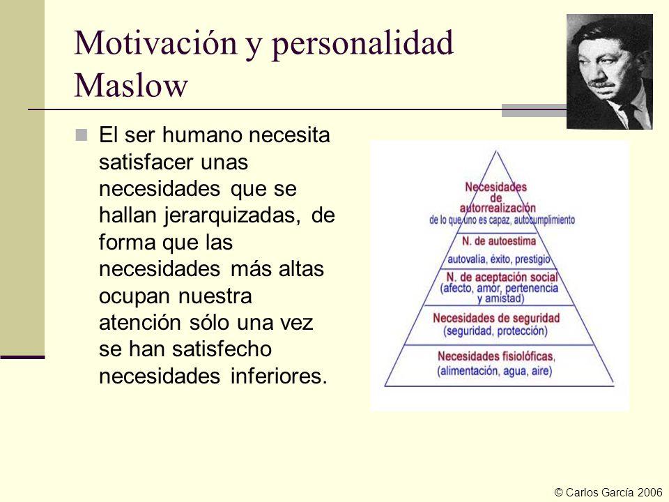 Motivación y personalidad Maslow