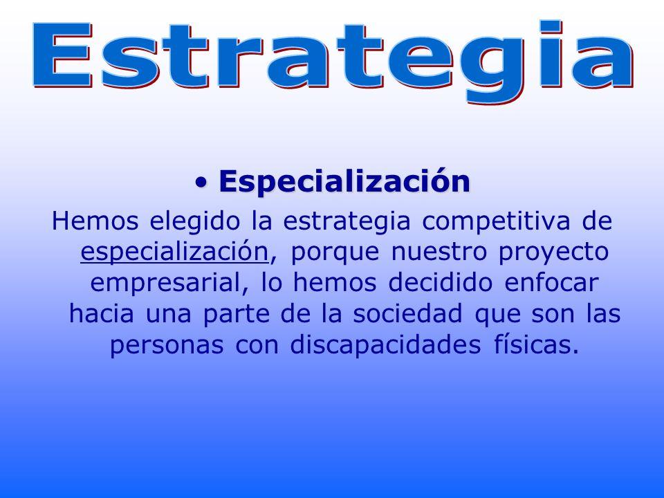 Estrategia Especialización