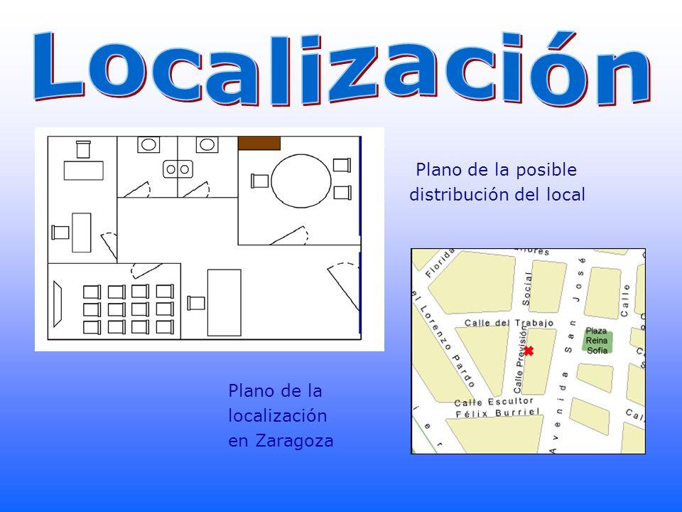 Localización Plano de la posible distribución del local Plano de la