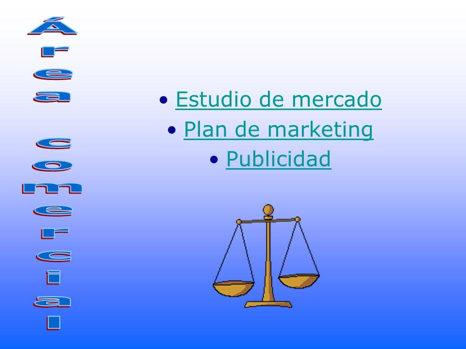 Estudio de mercado Plan de marketing Publicidad Área comercial