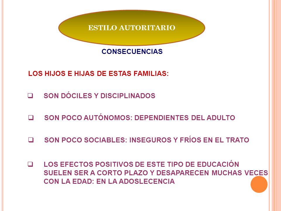 LOS HIJOS E HIJAS DE ESTAS FAMILIAS:
