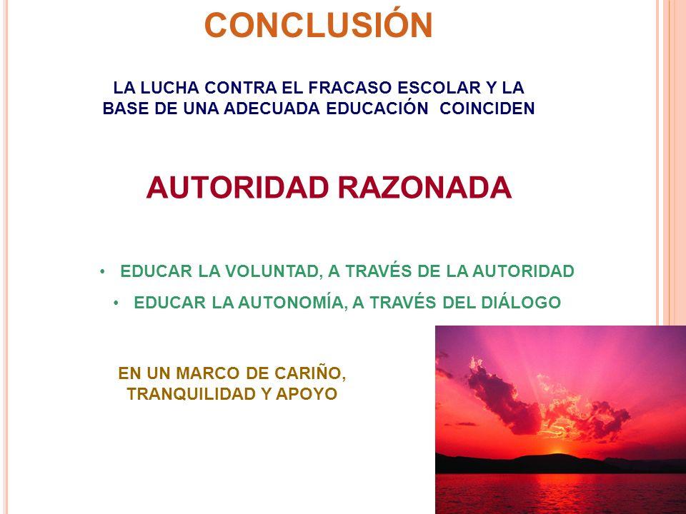 CONCLUSIÓN AUTORIDAD RAZONADA