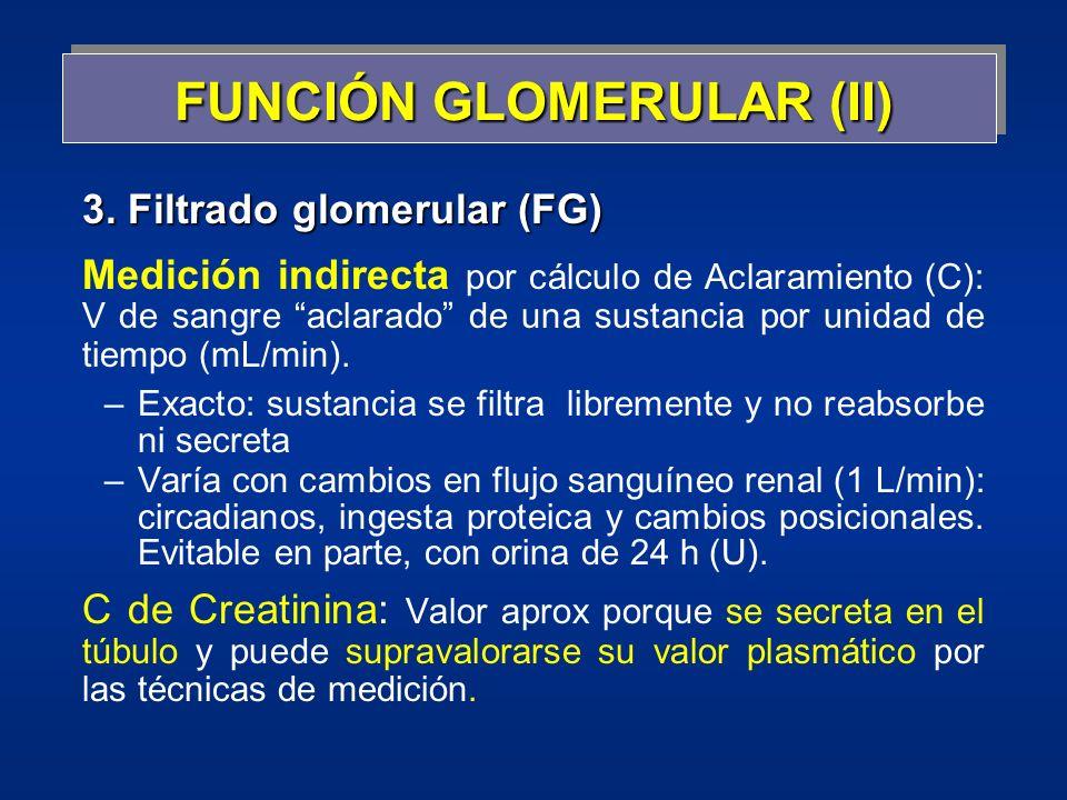 FUNCIÓN GLOMERULAR (II)