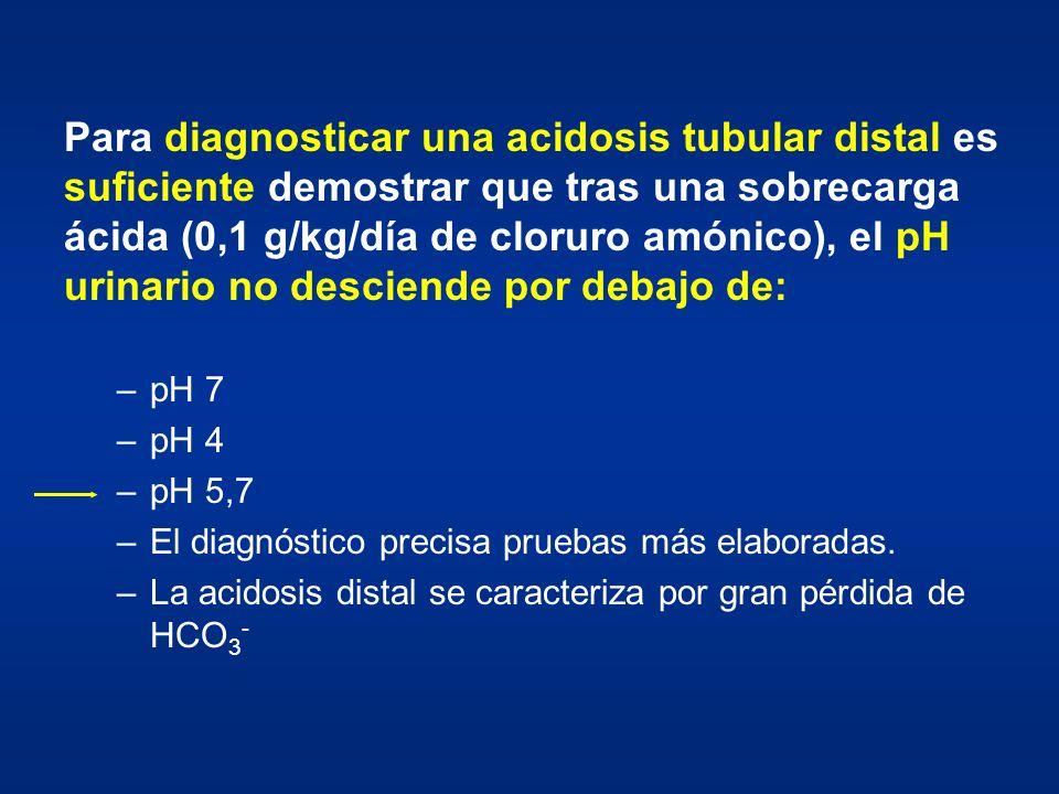 Para diagnosticar una acidosis tubular distal es suficiente demostrar que tras una sobrecarga ácida (0,1 g/kg/día de cloruro amónico), el pH urinario no desciende por debajo de: