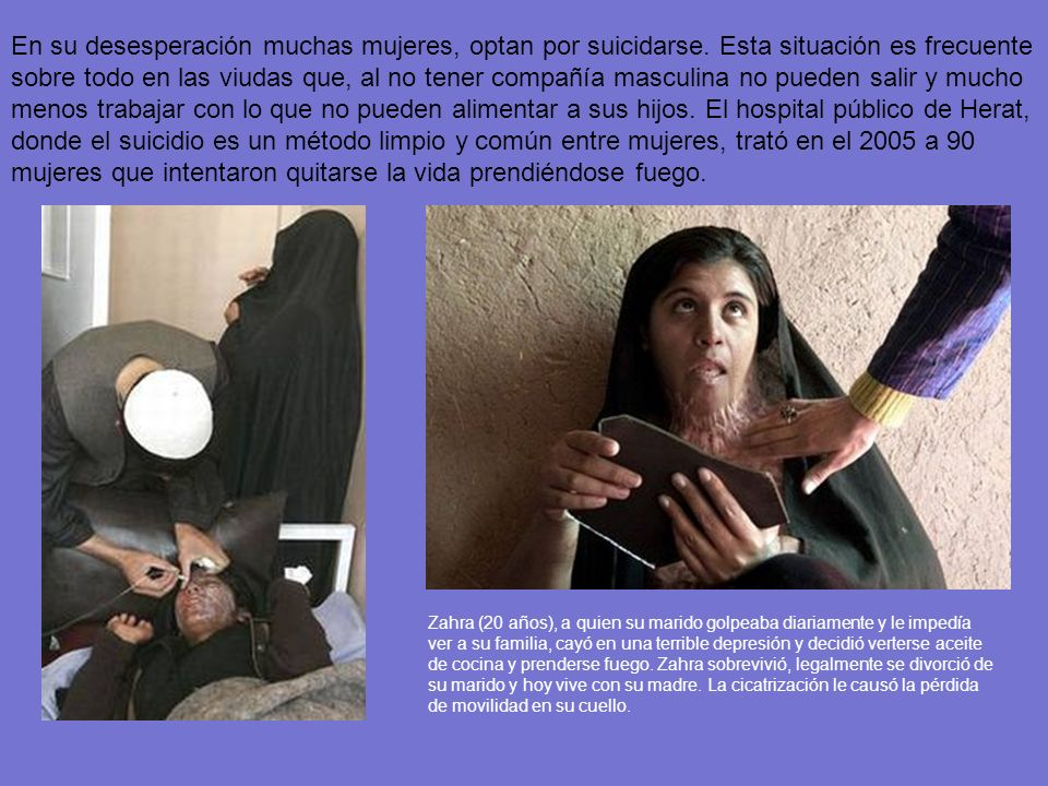En su desesperación muchas mujeres, optan por suicidarse