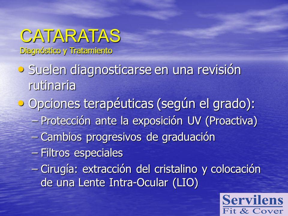 CATARATAS Suelen diagnosticarse en una revisión rutinaria