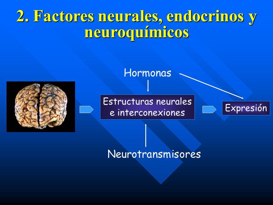 2. Factores neurales, endocrinos y neuroquímicos