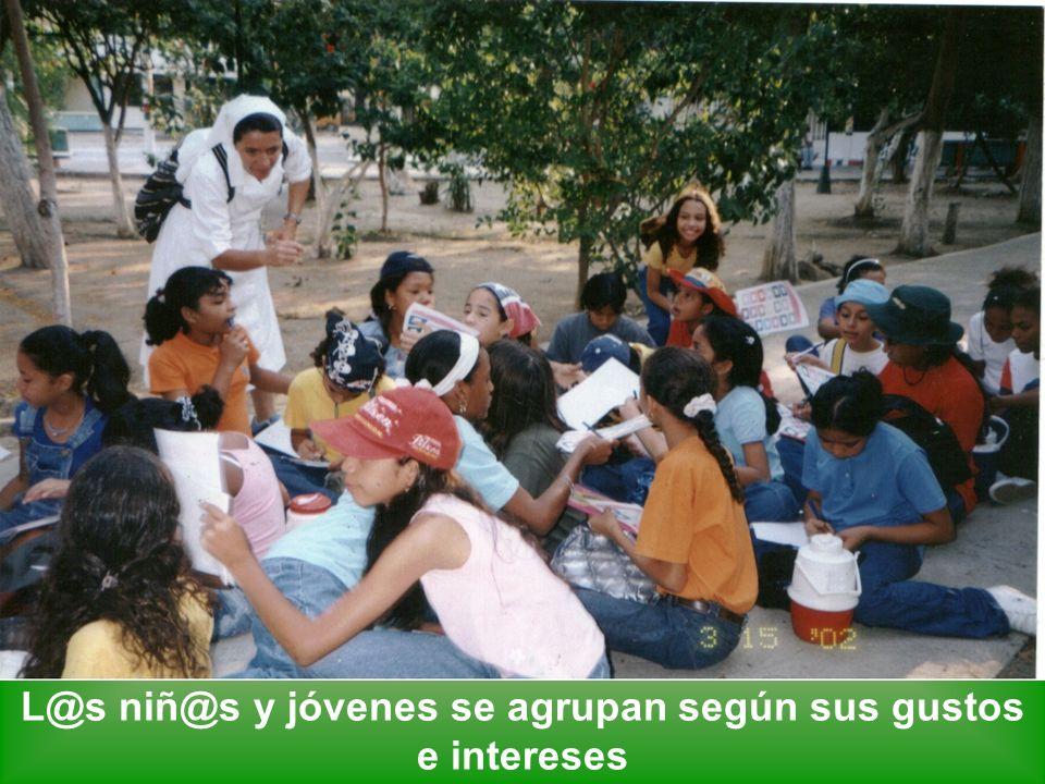 L@s niñ@s y jóvenes se agrupan según sus gustos e intereses