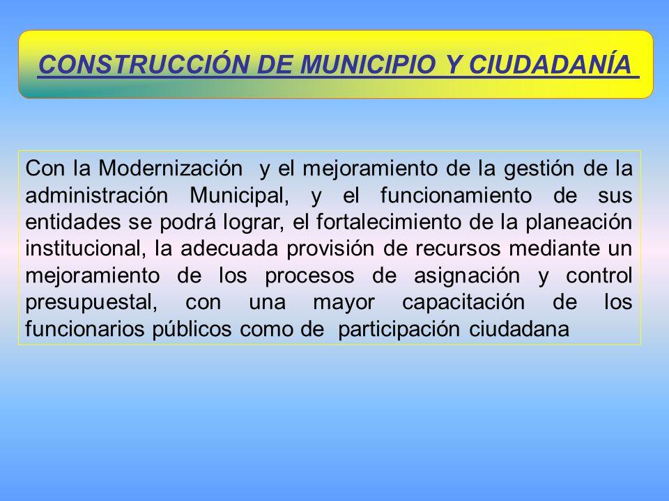 CONSTRUCCIÓN DE MUNICIPIO Y CIUDADANÍA